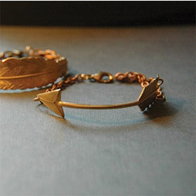 Image of Brass Arrow Bracelet by Larissa Loden
