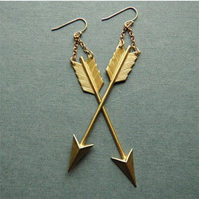 Image of Brass Arrow Earrings