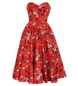 Image of Blooming Marvelous 50s Style Rockabilly Swing Dress