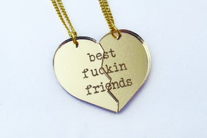 Image of BFF [Best Fuckin Friends] Necklace Set - Gold