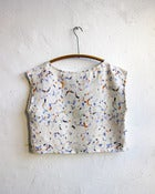 Image of Watercolor Brushstrokes Neutral Linen Blouse