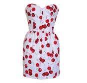 Image of Cherry Print Pin-Up Dress