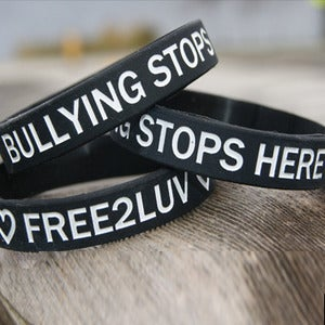 Image of FREE2LUV/BULLYING STOPS HERE Wristband