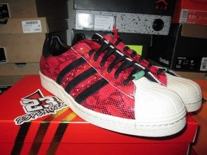 Image of adidas Superstar 80s CNY &quot;Year of the Snake - Cardinal Red&quot;