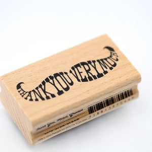 Image of Thank You Very Much Mustache Stamp
