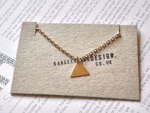 Image of Raw Brass Triangle Necklace