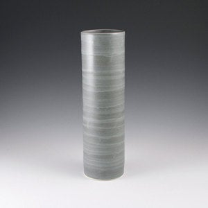 Image of Tall Cylinder Vase in Steel Grey No. 6