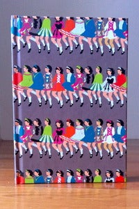 Image of Rows of Dancers Grey Notebook