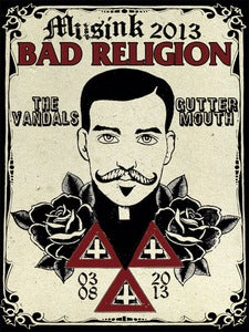 Image of Musink 2013- Bad Religion Poster