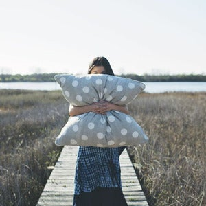 "Image of 30"" Polka Dotted Pillow"