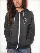 Image of SA Crest Zip Hoodie Grey - Woman's