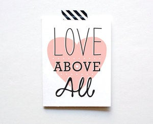 Image of Love Above All Card by The Paper Cub Co.