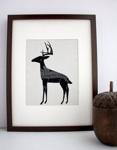 Image of Winter Deer Illustration: Antler Animals Series