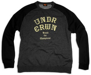Image of ALL GOLD CREW | black/dark grey heather