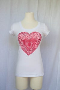 Image of Roger & Peach // Latice Heart T-Shirt