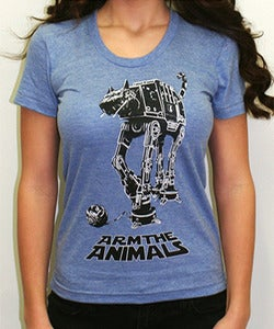 Image of Girls | Cat-At | Fashion Crew Tee | Athletic Blue