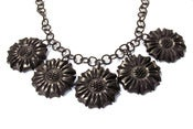 Image of Carved Multi-Flower Resin Necklace by Hotcakes Designs