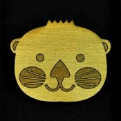 Otter Wooden Brooch