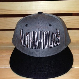 Image of Block SnapBack (Charcoal/Black)