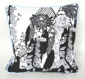 Image of Cushions 'Wood with bear &amp; deer'