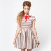 Image of matilda dress - red piping