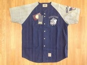 Image of Vintage Deadstock Georgetown Hoyas Pinstripe Baseball Jersey