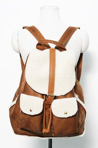 Image of fur detail rucksack by Zip It