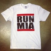 Image of Mens White RUN MIA Tee