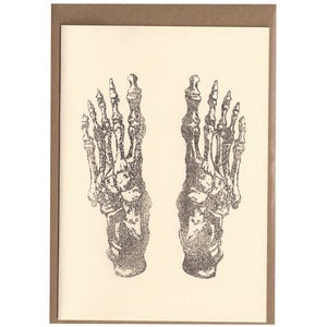 Image of Feet Card [Bones]