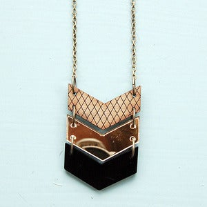 Image of Triple Chevron Necklace - Gold by Nylon Sky