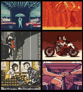 Image of El Jefe Design Postcard Set 2- Couples