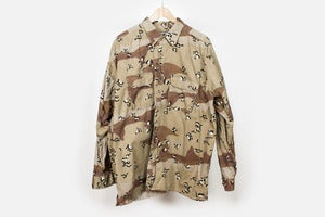 Image of Vintage Chocolate Chip Camo Shirt Jacket