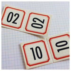 Image of Number Label Flaps