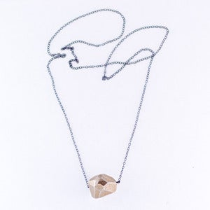 Image of single rock necklace - steel