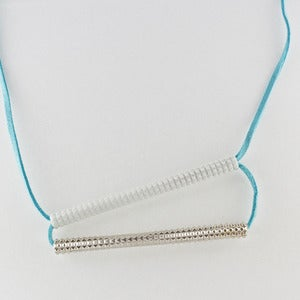 Image of stacked bars necklace