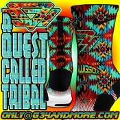 "Image of ""A Quest called Tribal"" themed Nike elite sock"