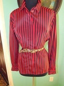 Image of &quot;Chic Red Stripes&quot; Blouse