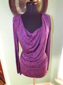 Image of &quot;Plunge Me&quot; Purple Blouse