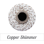 Image of Copper Shimmer - Copper Metallic & Natural Baker's Twine