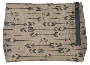 Image of Arrow Linen Small Cosmetic Bag