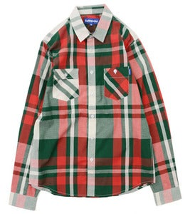 Image of LAFAYETTE BASIC COTTON PLAIDSHIRT