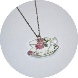 Image of Tea Party: Tea Cup Necklace