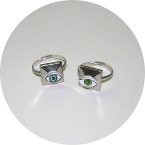 Image of Grunge Collection: Studded Evil Eye Rings