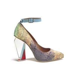 Image of Miista Tara Digital Print Court Shoe Perspex Heel