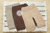 Image of Newborn Knitted Pants - THREE Colors - Cream, Chocolate &amp; Natural