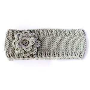 Image of Flower headband in grey