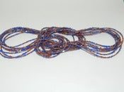 Image of Plum and Blue Single Strand glass bead