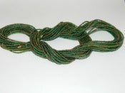 Image of Green and Gold Single strand waist bead