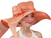 Image of Big Brim Sinamay Hat - Orange