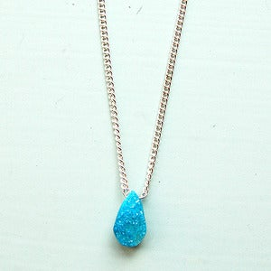 Image of Sky Blue Druzy Necklace